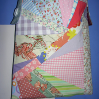 Special Offer - Pretty patchwork and denim sholuder bag.