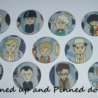 Doctor Who fabric badge (choose one of your choice)