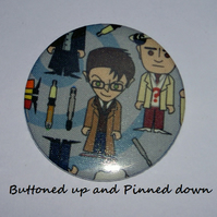 Doctor Who fabric compact mirror (choose one of your choice)