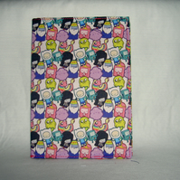 Adventure Time fabric A6 Diary 2014