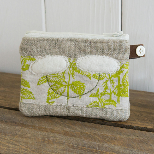 Little Queen Annes Lace and Nettles Purse