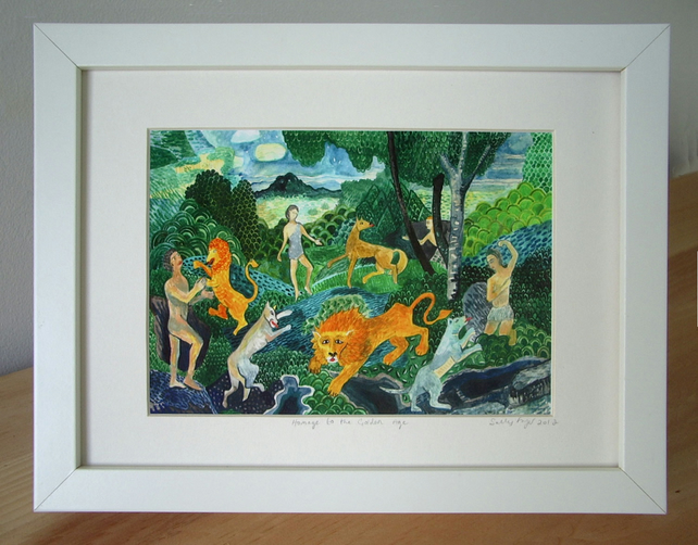Framed Print- Homage to the Golden Age