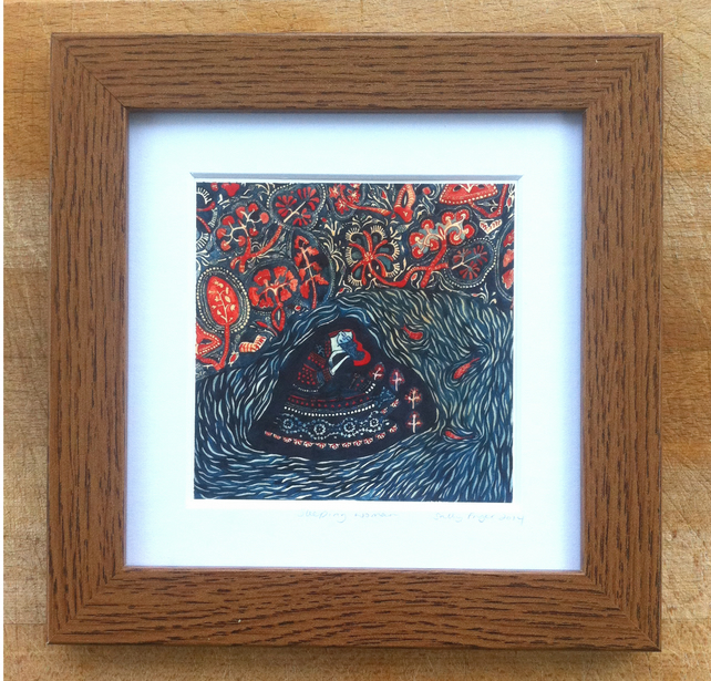 Sleeping Woman, Framed Print