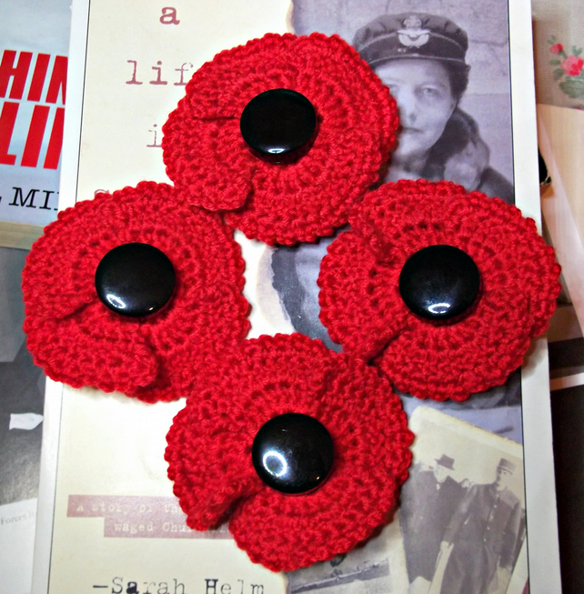 Remembrance Poppy Brooch - All Proceeds to Charity
