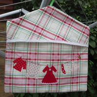 Peg bag in red check 382