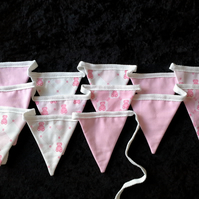 Pink Teddy bunting extra long - 153