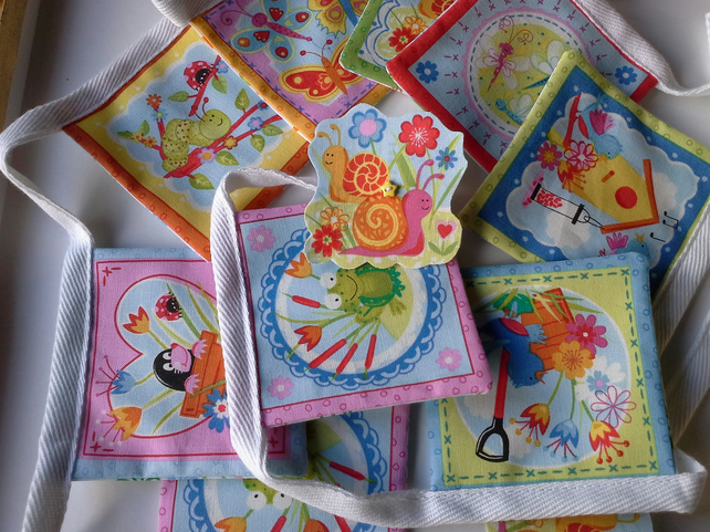 Nursery Bunting with Garden friends - 150