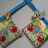 Baby Boy Bunting with Ladybirds and Butterflies - 148