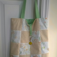 Patchwork Tote bag and shopper with Trolley token 363