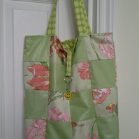 Patchwork Tote bag and shopper with Trolley token - 233