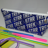 Pencil Case in Star Trek fabric with contents -  361