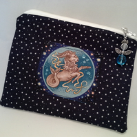 Capricorn zodiac make up bag for a Christmas Day Birthday 173A