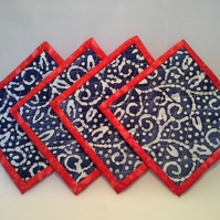 Coaster set of 4  - fully reversible  442