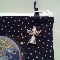 Sagittarius  Zodiac Make Up Bag with Guardian Angel charm 439