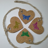 Heart and Butterfly gift tags