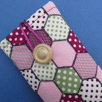 Glasses or Sunglasses case quilted patchwork style 110A