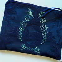 Navy elegant make up bag 120B
