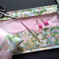 Apple blossom Crochet hook wallet 195B