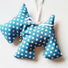 Lavender Scottie dog 201B