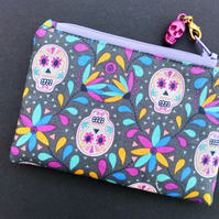 Sugar skull coin purse 491C