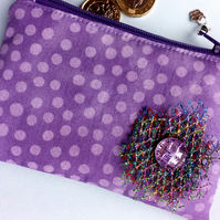 Purple Coin Purse 68E