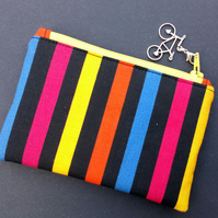 Stripey coin purse 79E