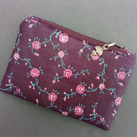 Purple roses coin purse 115E