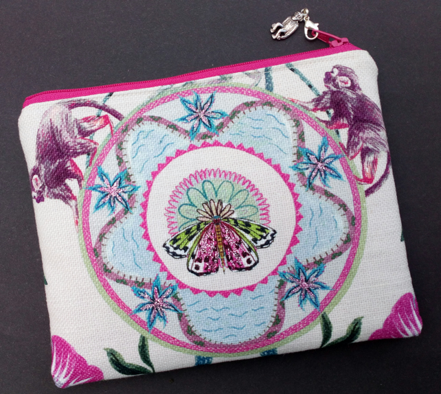 Butterfly and monkey make up bag 134E