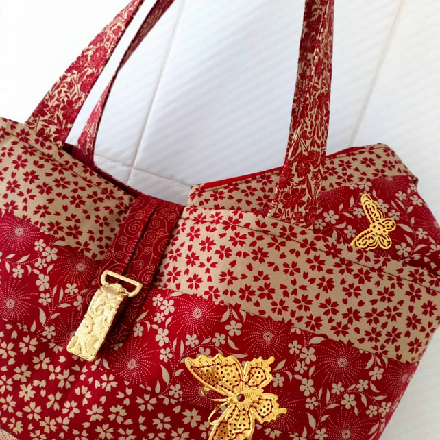 Butterfly and Flowers bag set