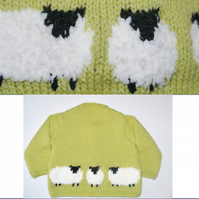 Knitting Pattern for Fluffy Sheep Jacket and Hat for Baby