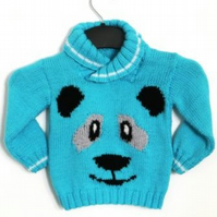 Panda Jumper Knitting Pattern