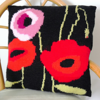 Knitting Pattern for Poppy Cushion