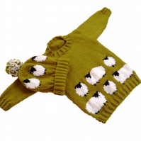 Knitting Pattern Sheep Sweater and Hat