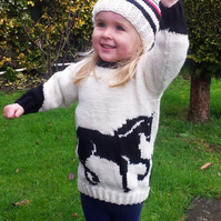 Horse Sweater and Hat Knitting Pattern