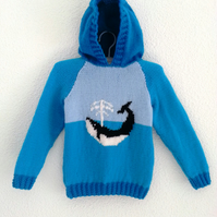 Whale Hoodie Knitting Pattern