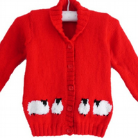 Knitting Pattern Child's Jacket with Sheep
