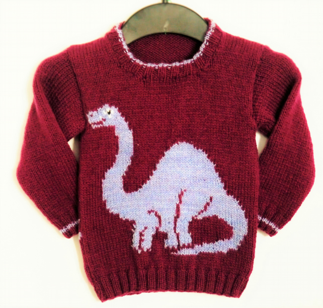 Dinosaur Jumper Knitting Pattern