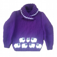 Knitting Pattern Child's Sheep Sweater