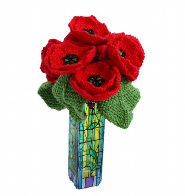 Knitting Pattern for Forever Poppies