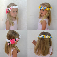 Knitted Summer Flower Crowns