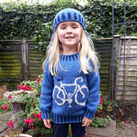Bike Sweater and Hat Knitting Pattern