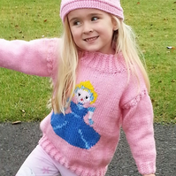 Knitting Pattern Cinderella Sweater and Crown