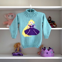 Knitting Pattern Rapunzel Sweater and Crown