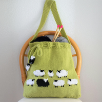 Knitting Pattern for Flock of Sheep Bag