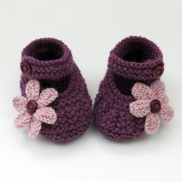 Hand Knitted Baby Shoes Booties Folksy