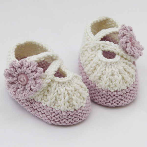Free Knitting Patterns For Baby Sandals : Knit Baby Sandals Free Pattern