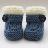 Hand Knitted Baby Booties - Shoes