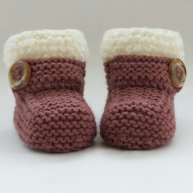 Hand Knitted Baby Booties Shoes Folksy