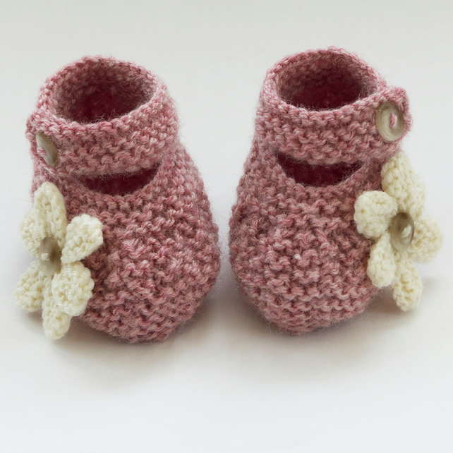 Hand Knitted Baby Shoes-Booties