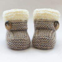 Hand Knitted Baby Booties-Shoes